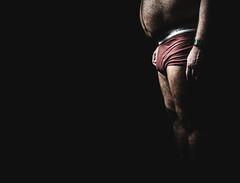 Calvin (OliverZeukePhoto) Tags: man underwear minimal negativespace bear belly hairy