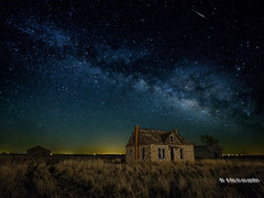Milky Way in the Prairie (v2) (jamesclinich) Tags: milkyway texas tx nighttime stars buildings architecture abandoned sky tripod lowlevellighting olympus omd em10 corel aftershotpro paintshoppro topaz denoise adjust clarity detail jamesclinich olympus714mmf28pro