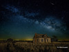 Milky Way in the Prairie (v2) (jamesclinich) Tags: milkyway texas tx nighttime stars buildings architecture abandoned sky tripod lowlevellighting olympus omd em10 corel aftershotpro paintshoppro topaz denoise adjust clarity detail jamesclinich olympus714mmf28pro
