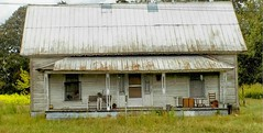 Well, Let's Just Give it Away  .... (~ Cindy~) Tags: hwy5868clutteredbench clutteredporch autumn 2016 house abandoned junk