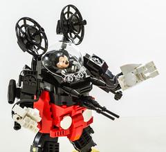 Mecha Mouse (Baron Julius von Brunk) Tags: disney mickeymouse mickey brunk gundam mech mecha mechwarrior moc legodisney robot