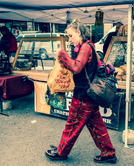 Woman shopping in Dr Martens (FourteenSixty) Tags: nyc unionsquare unionsquarepark drmartens manhattan martens