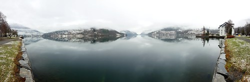 Panorama scene from Ulvik in Hardanger.