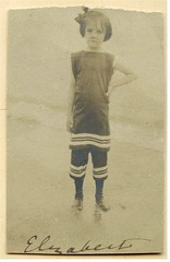 Elizabeth Trowbridge Van Etten Crowell (chescrowel) Tags: fashion ocean victorian bathing suit littlegirl young