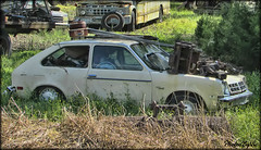 Chevy Chevette (Photos By Vic) Tags: car chevy chevrolet chevette junk junkyard rusty rust northcarolina nc