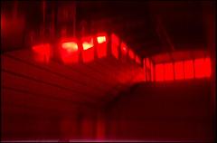 20170408-009 (sulamith.sallmann) Tags: bahnhof berlin blur deutschland effect effekt filter folie folientechnik germany gesundbrunnen haltestelle kunststoff mitte plastic plastik red rot stairs treppe unscharf wedding deu sulamithsallmann