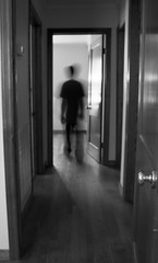 IMG_1345 (e08avenger) Tags: ghost black white photographs spooky fake horror haunted haunting staged old house motion blur