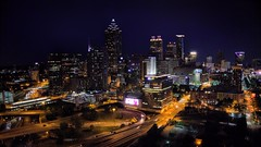 Downtown Atlanta, GA / Phantom 4 Pro Plus Drone (MegaloPhotography) Tags: landscape architecture dusk sky sunset twilight city clouds skyline aerial downtown dji djiglobal aerialphotography phantom4 p4p phantom 4 pro phantom4pro atlanta atl hotlanta downtownatlanta downtownatl midtownatl night nightshot nightphotography landscapephotography midtownatlanta magichour