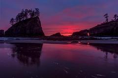 Dramatic Sunset at Second Beach, La Push, WA (Cole Chase Photography) Tags: sunset dusk twilight reflection pacificnorthwest washington olympicnationalpark olympicpeninsula lapush