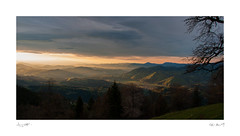 first sunrays hit my hometown (Igor Karče) Tags: landscape morning light sunrays mozirje