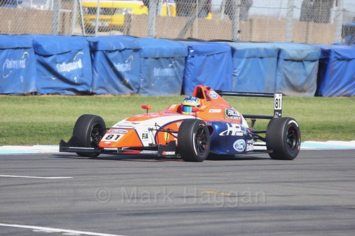Oscar Piastri in British F4 Race One during the BTCC Weekend at Donington Park 2017: Saturday, 15th April