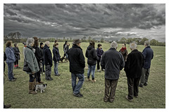 The Gathering (Myrialejean) Tags: beltonhouse belton beltonpark archaeology racharchaeo rachaelhall grass sky dramatic vista house history historic dogs walk education nikond7200 friends garden grey nature walkers people trees watch listen learn