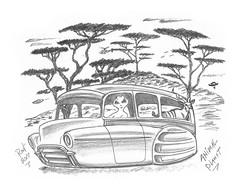 Animal Planet (rod1691) Tags: bw scifi akien grey concept custom car retro space hotrod drawing pencil original story fantasy funny automotive art illistration greyscale sketch moonpie