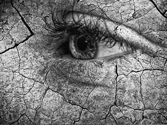 Cracked (JY_Photos) Tags: olympus microfourthirds mft micro43 dxooptics jyphotos indiana usa monochrome blackandwhite bw omdem5markii mzuikoed60mmf28macro affinityphoto eye face stone cracked columbus