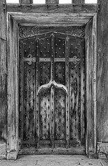 The Side Door (manxmaid2000) Tags: door wooden strong secure monochrome wythenshawe blackandwhite history entry england uk house