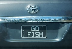 Go Fish (mikecogh) Tags: car numberplate recreation hobby fishing toyota logo