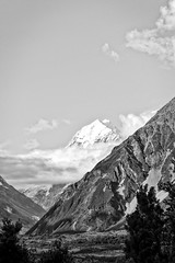 Reach for the sky (geemuses) Tags: northisland mountcook newzealand mountain snow slopes bandw blackandwhite monochrome bw contarst white black landscape scenic scenery beauty land rocks nature natural