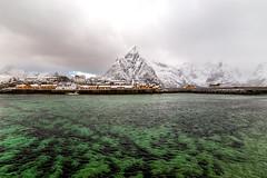What a wonderful world (lara_1012) Tags: reine norway landscape mountain sea water snow lofoten travel