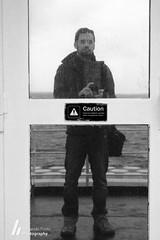 Caution (F. Prieto // fprieto.es) Tags: sea selfportrait reflection mirror mar puerta barco reflejo 365 mallorca menorca selfie alcudia balearia fernandoprieto