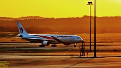Golden sunrise welcomed you all home.. (Ferry Octavian) Tags: canon eos 750d rebel t6i dslr landscape color colour street shot travel trip outdoor noflash handheld explore efs 55250 plane aircraft airplane aviation planespot jet jetliner airline airliner transport transportation commercial spot jumbo widebody wide bandara airport taxi taxiway sunrise sun orange sky skyline horizon beautiful goldenhour gold golden kl kualalumpur malaysia southeast asia sea klia kul wmkk rwy32r capital city satelitte terminal 9mmtk malaysiaairlines mh airbus a330 a333 a330300 hill mountain scenery background sawit