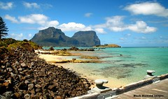 View to Mt Lidgbird and Mt Gower, Lord Howe Island, NSW, Australia (Black Diamond Images) Tags: australia island lordhoweisland nsw paradise wharf aviary wharfprecinct mtlidgbird mtgower lastparadise lagoon worldheritagearea blackburnisland rabbitisland nswnationalparks