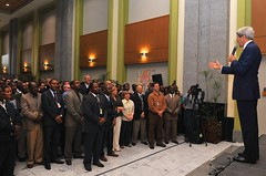 Secretary Kerry Announces Raise During Meet-and-Greet at Embassy Addis Ababa (U.S. Department of State) Tags: au ethiopia johnkerry addisababa africanunion