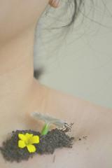 Growth (Celina Chareune) Tags: new selfportrait flower colour me soft soil collarbone alexstoddard