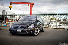 Mercedes-Benz R63 AMG (Dylan King Photography) Tags: black car vancouver bc wheels mercedesbenz minivan rims mb rare v8 amg brabus merc r63 62l 63l