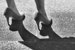 shadow blackandwhite bw woman white black feet stairs contrast standing foot shoes highheel pumps highheels shadows legs pavement leg streetphotography ankle youngwoman dickvos dtvos
