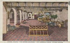 Aragon Ballroom - Chicago, Illinois (The Cardboard America Archives) Tags: chicago vintage illinois postcard ballroom aragon 1933
