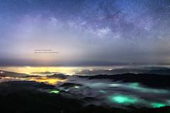 Galaxy@757m _IMG_3521 (Len) Tags: sky mist mountain fog clouds landscape nightscape taiwan 6d rueifang blackcard  ruifang   757m  steamfog       wufen ef24mmf14liiusm 24lii newtaipeicity wufenshan