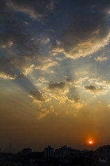 Blue & Orange (Azul Adnan) Tags: sunset sun clouds golden skies malaysia kualalumpur streaks