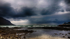 20140515_120827_Richtone(HDR)_HDR (WelshPixie) Tags: ocean sea sky beach clouds landscape southafrica overcast stormy hdr gordonsbay westerncape samsunggalaxys4