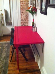 Erin Mahady's red table - from Facebook