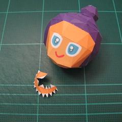วิธีทำโมเดลกระดาษตุ้กตา คุกกี้รสราชินีสเก็ตลีลา จากเกมส์คุกกี้รัน (LINE Cookie Run Skating Queen Cookie Papercraft Model) 010