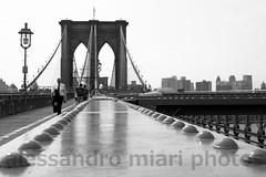 Brooklyn Bridge (alessandro miari) Tags: nyc blackandwhite brooklyn brooklynbridge