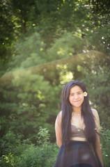 light (jojoannabanana) Tags: portrait people flower hair bokeh lensflare hippie