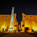 The remaining obelisk and the two 25m  statues of Ramses II - The entrance pylon -