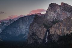 Yosemite (Jeremy Duguid) Tags: park travel sunset cloud mountains fall nature clouds canon landscape evening view dusk tunnel jeremy falls sierra national waterfalls yosemite dome half granite rest bridalveil duguid pwlandscape