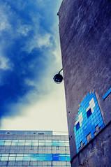 the invader (Pixelicus) Tags: street blue streetart paris art fuji bleu invader 13 rue 13me xiii x100 xiiime fujix100 ilobsterit