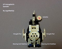 UF Intergalactic Speeder technical overview (LegoMathijs) Tags: lego space astronaut technic planet scifi uf speeder intergalactic miners moc legomathijs
