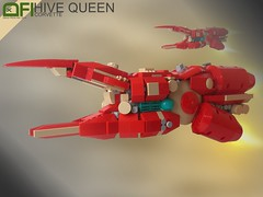 The Hive Queen (Dead Frog inc.) Tags: scale insect one this big ship lego teal no space small mini frog micro spaceship organic epic microspace micdi wooot microspacetopia microsclase