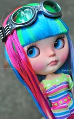 Goggles (Lawdeda ❤) Tags: from girl studio fun doll little goggles adorable blythe custom fidget forty fbl winks rainbowrific