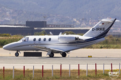 D-IRKE (Escursso) Tags: barcelona plane canon airplane wings aviation bcn alpha 525 triple cessna spotting avion avions citationjet avio dirke lebl