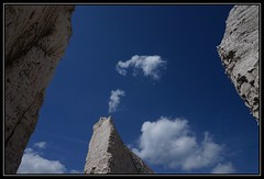 Blue and White (161/365) (J-o-h-n---E) Tags: blue sky clouds chalk kent 365 botanybay chalkcliffs awps chalkstack aperturewoolwich