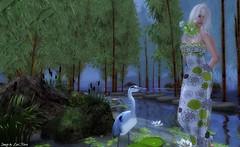 Blue & Green (Lori Novo) Tags: blue green water avatar pelican secondlife virtual waterlillies bloeien guanacay hellotuesday lorinovo munereia