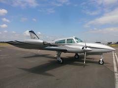 N747YK Cessna 310 (Aircaft @ Gloucestershire Airport By James) Tags: james airport gloucestershire cessna 310 lloyds egbj n747yk