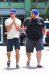(Jonasbesties) Tags: muscles hat john la friend candid nick taylor jonas 2014