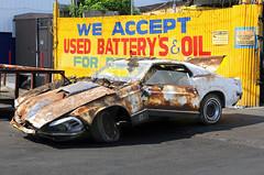 Verry broken Mustang Mach1 (vetaturfumare - thanks for 3 MILLION views!!!) Tags: ny ford broken 1971 rust muscle bronx 1970 mustang bent wreck 1972 crushed skrot ponycar mach1 skrotbil