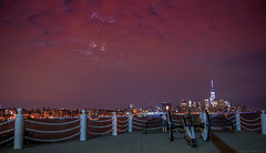 View of Manhattan (raj trivedi) Tags: world new york city nyc red sky mountain ny storm tower skyline night canon river lights freedom amazing downtown technology view cloudy manhattan sony stevens center institute midnight jersey hudson 28 elevated trade f28 hoboken raj trivedi a65 1650mm a65v